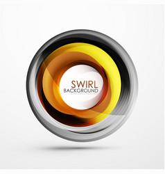 Abstract swirl banner circle abstract vector