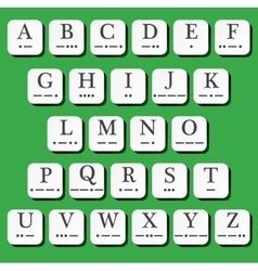 Alphabet with morse code vector
