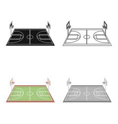basketball courtbasketball single icon in cartoon vector image vector image