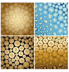 bright backgrounds with bitcoins - textures vector image vector image