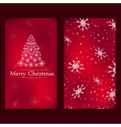 Christmas and new years card with red background vector