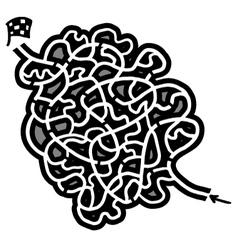 Creative maze vector