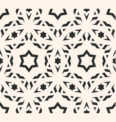 delicate seamless geometric stars pattern vector image vector image