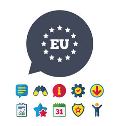 European union icon eu stars symbol vector