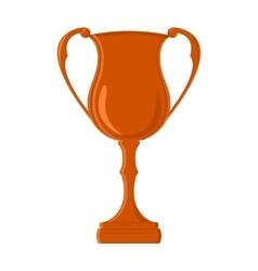 Flat challenge cup winner trophy vector