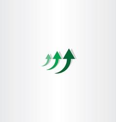 green arrow chart growth logo vector image