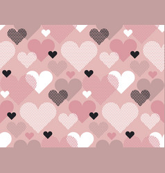 heart shape modern seamless pattern in geometry vector image vector image