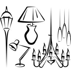 lighting equipment vector image