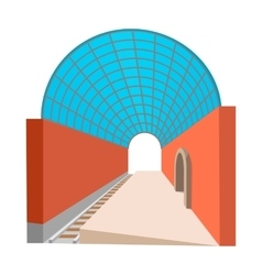 Metro station cartoon icon vector