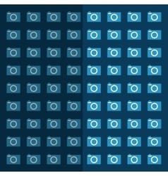 Photographic camera equipment vector