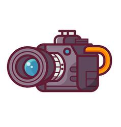Professional dslr camera icon vector