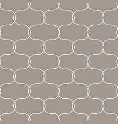 Quatrefoil oval taupe seamless pattern vector