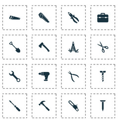 repair icons set includes icons such as tool vector image vector image