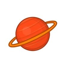 Saturn icon cartoon style vector