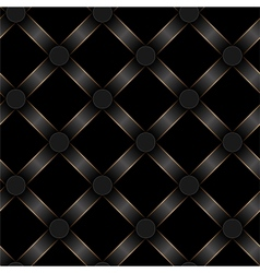 seamless black ribbon and gold strip pattern vector image vector image