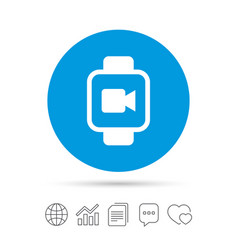 Smart watch sign icon wrist digital watch vector