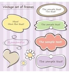 Vintage set of frames vector image vector image