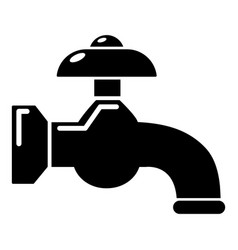 water tap icon simple black style vector image