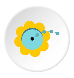 Watering flower icon circle vector