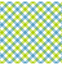 White green blue check plaid fabric texture vector image