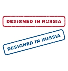Designed in russia rubber stamps vector