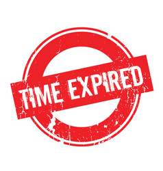 Time expired rubber stamp vector