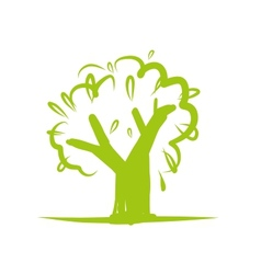 Green tree icon for your design vector image