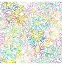 Daisy floral seamless pattern EPS 10 vector image