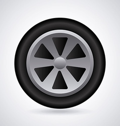 wheel design vector image