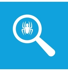 Spider examination icon simple vector