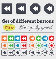 Multimedia sign icon player navigation symbol big vector
