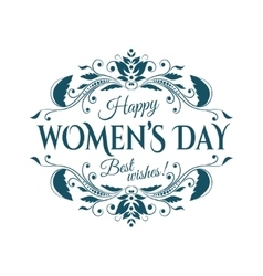 Happy womans day lettering vector