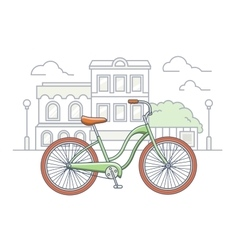 Bicycle on the street vector