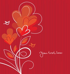 background with abstract hearts vector image