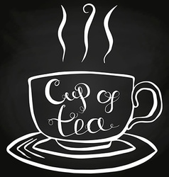 Cup of tea lettering vector