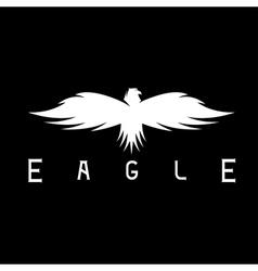 abstract design template of bird eagle vector image