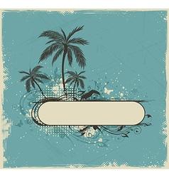 Vintage summer background vector image