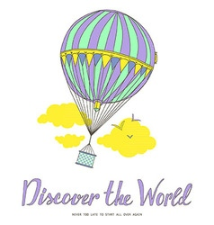 Discover the world vector