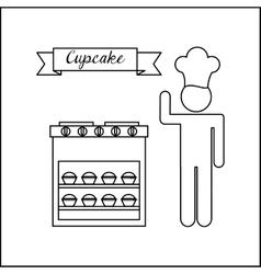Baker service design vector