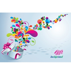 beautiful gift background vector image