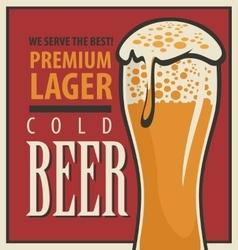 beer retro glass vector image