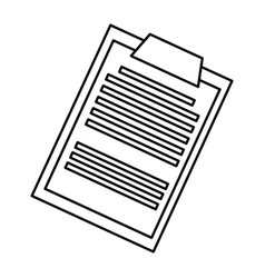 Clipboard report medical document line vector