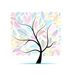 colorful art tree for your design vector image