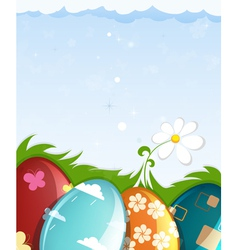 Colorful painted easter eggs vector