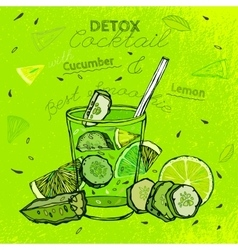 Cucamber lemon smoothie vector