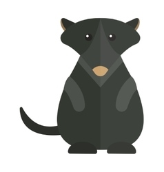 Cute australia groundhog funny cartoon character vector