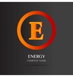 E Letter logo abstract design vector image