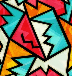 graffiti colorful geometric seamless pattern with vector image vector image