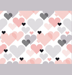 heart shape modern seamless pattern in geometry vector image