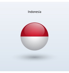 Indonesia round flag vector